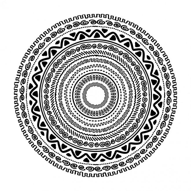 Coloriage et dessins gratuits Mandala Symboles vecteur à imprimer