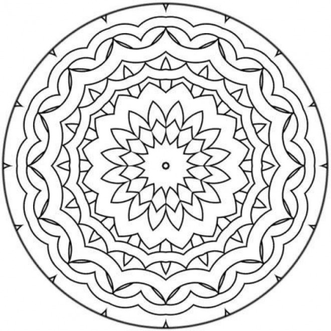 Coloriage Mandala Facile Adorable Dessin Gratuit à Imprimer