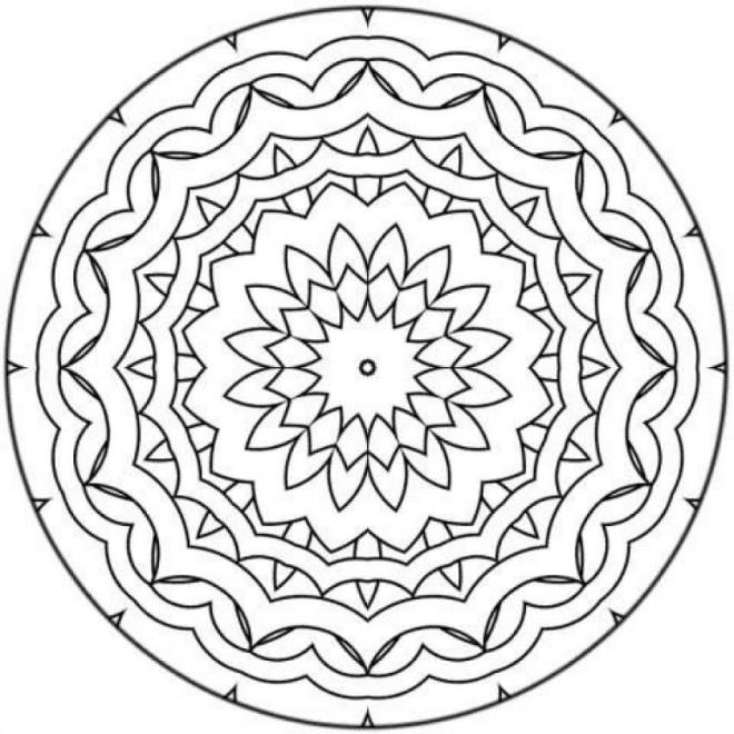 Coloriage Mandala Facile A Imprimer.Coloriage Mandala Facile Adorable Dessin Gratuit A Imprimer