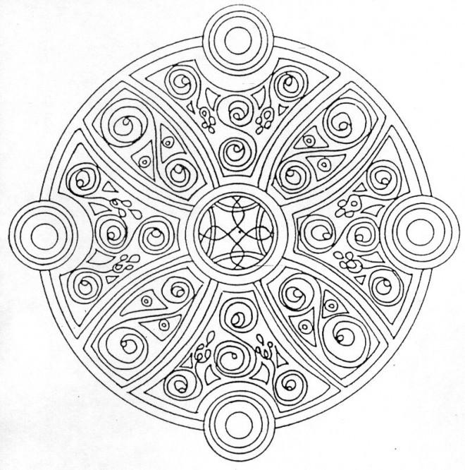 Coloriage Mandala Couleur.Coloriage Mandala Facile Couleur Dessin Gratuit A Imprimer
