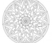 Coloriage Mandala Facile