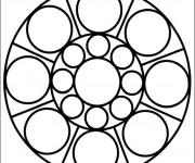 Coloriage Décoration Mandala Facile