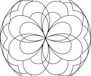 Coloriage Géométrique Mandala Facile