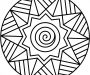 Coloriage Illustration Mandala Facile