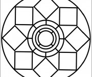 Coloriage Magique Mandala Facile