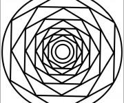 Coloriage Mandala centralisé