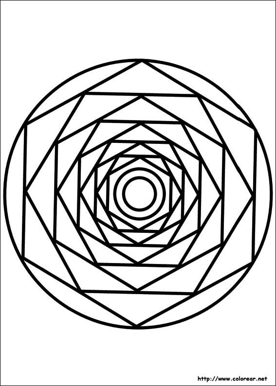 Coloriage et dessins gratuits Mandala centralisé à imprimer