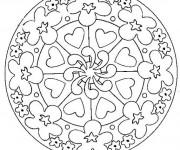 Coloriage et dessins gratuit Mandala Coeur à imprimer