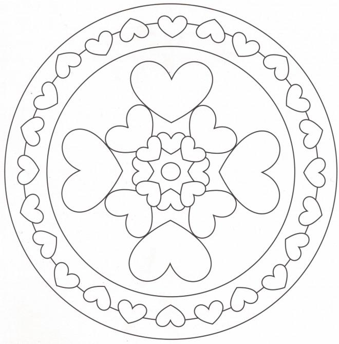 Coloriage Mandala Maternelle A Imprimer Gratuit.Coloriage Mandala Coeur Maternelle Dessin Gratuit A Imprimer