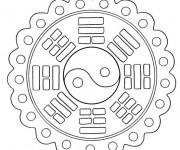 Coloriage Mandala de Paix Facile