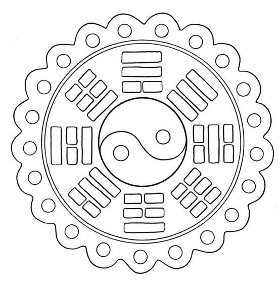 Coloriage et dessins gratuits Mandala de Paix Facile à imprimer