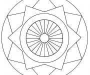 Coloriage Mandala en ligne simple