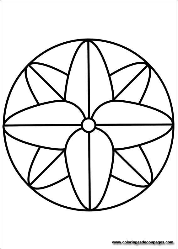 Coloriage Mandala Facile Gratuit A Imprimer