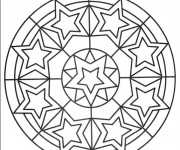 Coloriage Mandala Étoile difficile