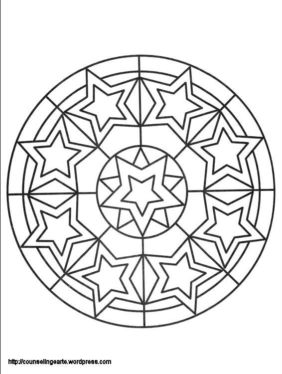 Coloriage et dessins gratuits Mandala Étoile difficile à imprimer