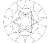 Coloriage dessin  Mandala Facile 1
