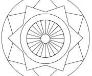 Coloriage Mandala Facile 10