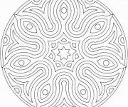 Coloriage Mandala Facile 11
