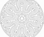 Coloriage dessin  Mandala Facile 11
