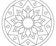 Coloriage dessin  Mandala Facile 12