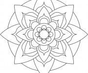 Coloriage Mandala Facile 16