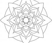 Coloriage dessin  Mandala Facile 16