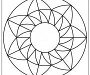 Coloriage Mandala Facile 17