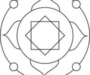 Coloriage dessin  Mandala Facile 18