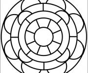Coloriage dessin  Mandala Facile 19