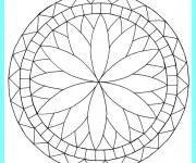 coloriage mandala facile 19 gratuit à imprimer en ligne