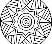Coloriage Mandala Facile 20