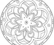 Coloriage Mandala Facile 21