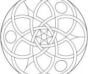Coloriage Mandala Facile 23