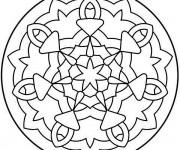 Coloriage Mandala Facile 24