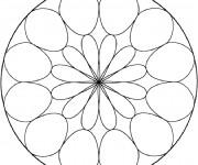 Coloriage Mandala Facile 25