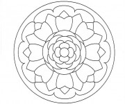 Coloriage Mandala Facile 3