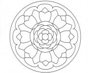 Coloriage dessin  Mandala Facile 3