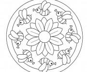 Coloriage dessin  Mandala Facile 4