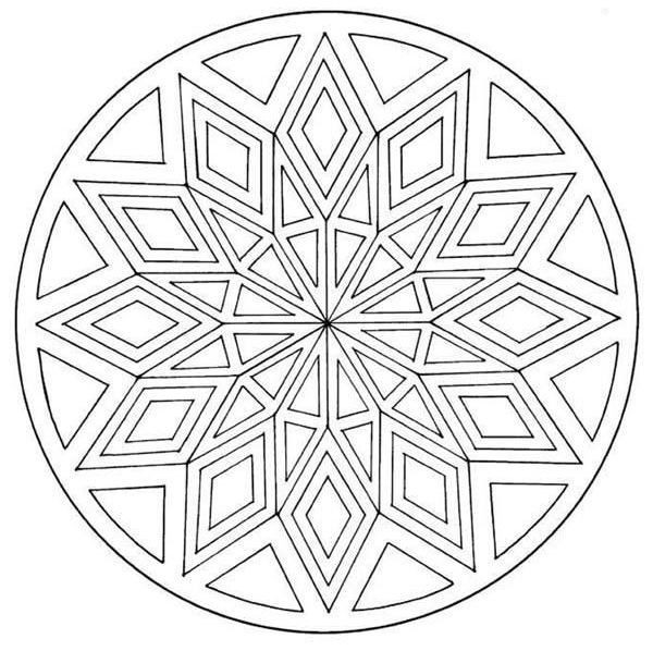 coloriage mandala facile 52 dessin gratuit imprimer. Black Bedroom Furniture Sets. Home Design Ideas