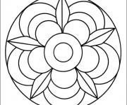 Coloriage dessin  Mandala Facile 6