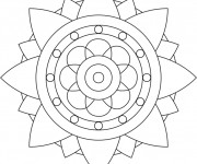 Coloriage Mandala Facile 7