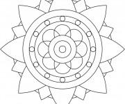 Coloriage dessin  Mandala Facile 7