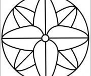 Coloriage dessin  Mandala Facile 8
