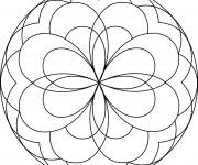 Coloriage dessin  Mandala Facile 9