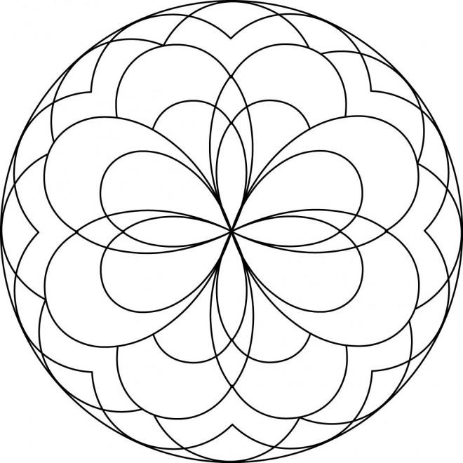 autres coloriages mandala - Dessin De Mandala