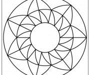 Coloriage et dessins gratuit Mandala Facile à décorer à imprimer