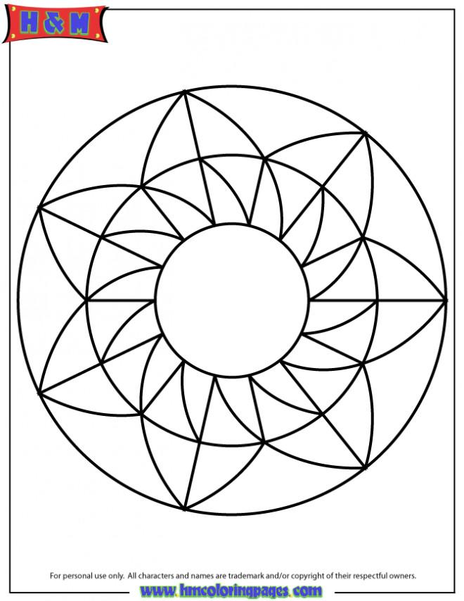 Coloriage et dessins gratuits Mandala Facile à décorer à imprimer