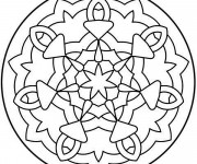 Coloriage Mandala Facile à faire