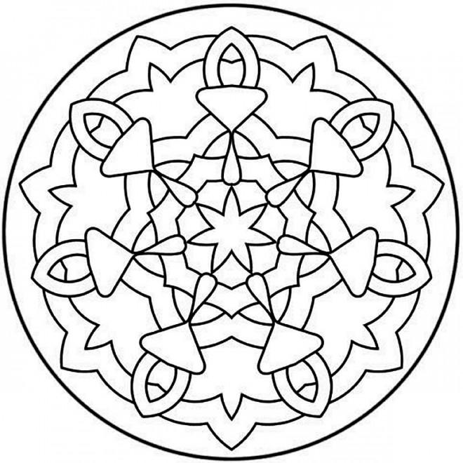 Coloriage et dessins gratuits Mandala Facile à faire à imprimer
