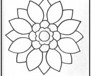 Coloriage Mandala Facile au crayon